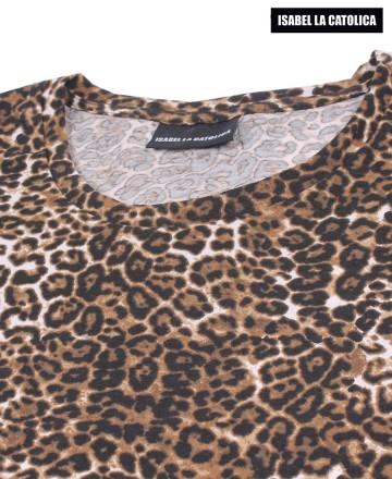 Remera Isabel La Católica Basic Leopardo