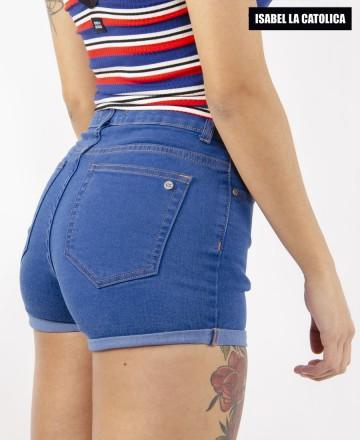 Short Isabel La Católica Hi Roll Blue
