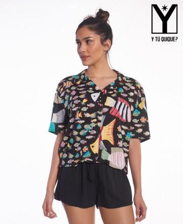 Camisa Y Tú Quique? Hawaiana Oceano