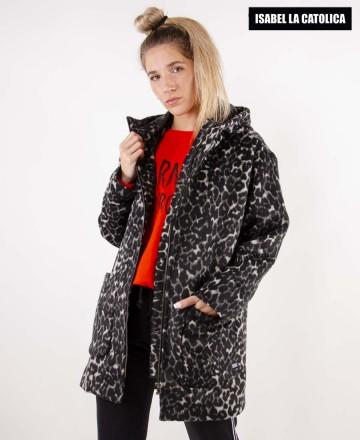 Campera Isabel La Católica Hood Leopard