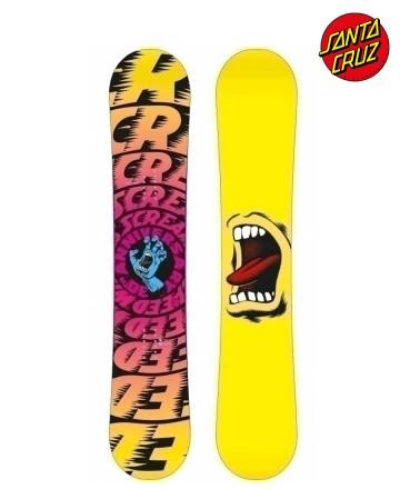 Tabla Snowboard Santa Cruz Screaming Hand Yellow