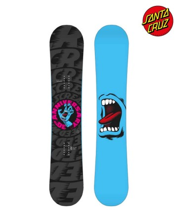 Tabla Snowboard Santa Cruz Screaming Hand Black