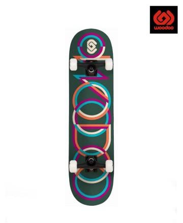 Skate Completo Woodoo Rings Green