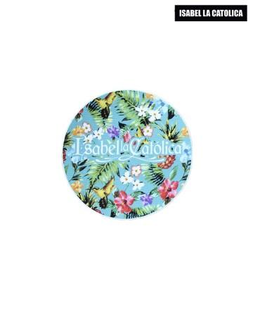 Sticker  Isabel La Católica Flores Celeste