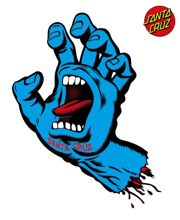 Sticker Santa Cruz Big Screaming Hand