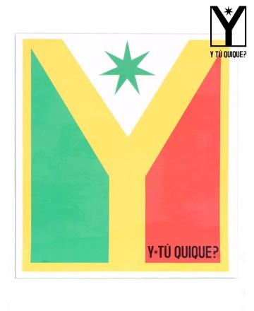 Sticker Y Tú Quique? Logo Big