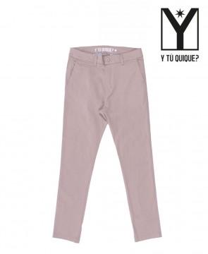 Pantalon Y Tú Quique? Slim Chino Crop