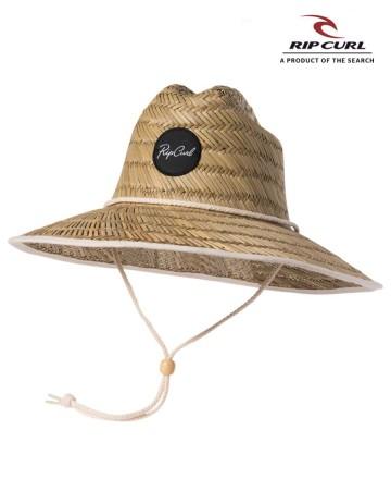 Sombrero Rip Curl Script Straw Sunhat