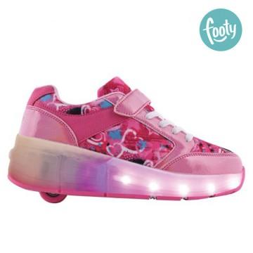 Zapatillas Footy Roller Rock Pink Led