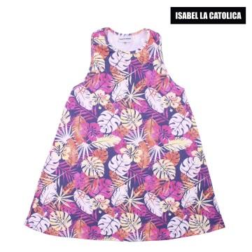 Vestido Isabel La Católica Flower Stripe