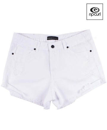 Short Rip Curl White Frayed