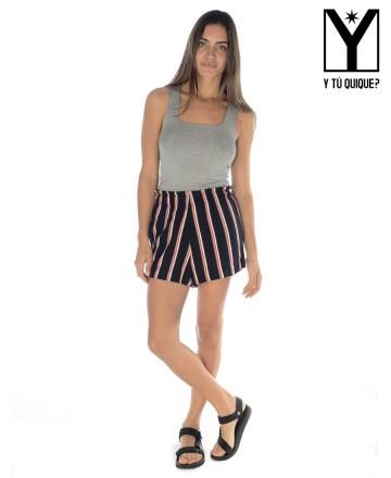 Short Y Tú Quique? Striped Classic