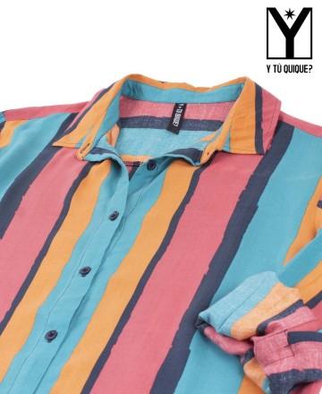 Vestido Y Tú Quique? Stripes