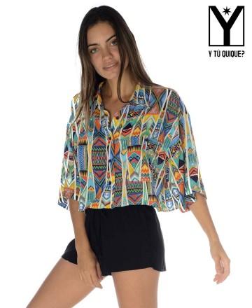 Camisa Y Tú Quique? Crop Oversize